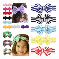 baby girl headbands big bow headband colorful solid floral s...