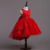 Vestidos de los niños para las muchachas de la princesa fiesta de Navidad de la boda del vestido de la muchacha ropa 3 a 12 años adolescente Frock vestido de los niños Ropa