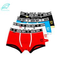 [4 colors Mixed] Pink Hero 100% Cotton Men's Underwear Comfortable Panties Brand Male Man Boxer Male Underpants Wholesale 1201