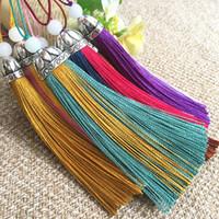 10 centimetri doppio colore giada tallone nappa trim gioielli artigianali fare orecchini ciondolo fai da te accessorio tenda nappa 17 colori
