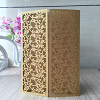30pcs Luxury Gold Leave Design Wedding Invitation Card Hollo...