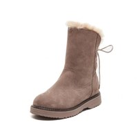 Snow boots women' s winter 2018 new height increase genu...