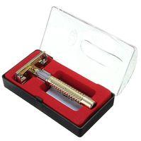 Portátil de seguridad de los nuevos hombres Manual de afeitado + seguridad de dos filos de la hoja de afeitar Box