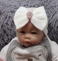 مستشفى الوليد قبعة الرضع طفل متماسكة قبعة قبعة مع القوس كبير لينة لطيف عقدة الحضانة قبعة