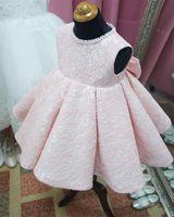 Платье Cute Baby Girl платье бисером Крещение платья для девочек 1 год День рождения крестины платье Младенческая Одежда Bebes Платье