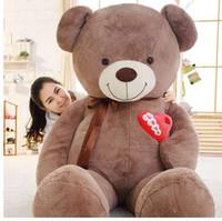 1PC 75cm/90cm Large Teddy Bear Plush Toy Lovely Huge Stuffed Soft Bear Wear Bowknot Bear Kids Toy Birthday Gift For Girlfriend