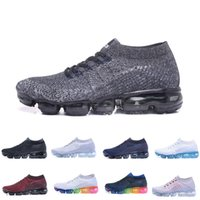 2018 New Rainbow VaporMax 2018 BE TRUE Men Shock Running Sho...