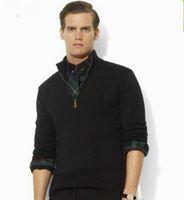 2019 neue High-End Casual Half Reißverschluss Männer Polo Pullover Marke Pullover Baumwolle Pullover Männer Pullover Größe M-3XL
