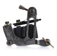 Nova Chegada Da Bobina Da Máquina Do Tatuagem 8 Envoltório Bobinas Tatoo Gun Black Steel Tattoo Quadro para Liner Shader Equipment Supply
