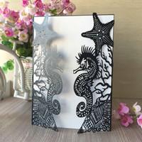 30pcs X Pearl paper Sea Beach Wedding seahorse Shell Birthda...