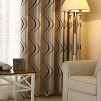 Thick Luxury Wavy Striped Curtain Design for Living Room Bed...