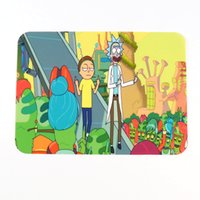 rick and morty 19 colors Silicone Wax dab mat pad with recta...