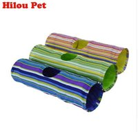 Crinkle Multicolor Cat Tunnel 90cm Length Puppy Kitten Toys ...