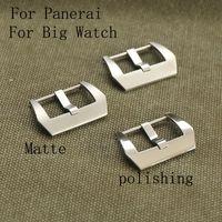 316 en acier inoxydable, 20 mm 22 mm 24 mm 26MM Argent Noir mat et poli Boucle Fermoir pour Pam et Big Watch, Logo Fournir personnel