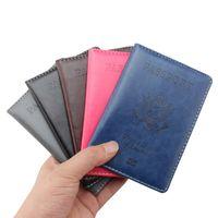 الأمريكية جواز سفر المحفظة عارضة السفر الولايات المتحدة الأمريكية غطاء جواز سفر النساء الرجال جواز سفر حامل بطاقة الائتمان حالة بو الجلود بطاقة الأعمال