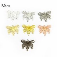 BoYuTe 100 Pcs 18*22MM 7 Colors With 4 Loops Hollow Out Flow...