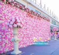 10 adet / grup 60X40 CM Çiçek Duvar İpek Gül Oyma Duvar Şifreleme Çiçek Arka Plan Yapay Çiçekler Yaratıcı Düğün Sahne ücretsiz kargo
