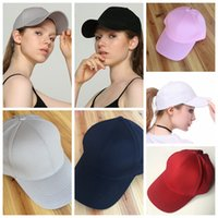 CC Visor Cap Ponytail Baseball Hats Ponytail solid Snapbacks...