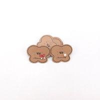 1000PCS / الكثير ورق كرافت مجوهرات بطاقات حلق عرض مجوهرات على شكل قلب 5 LOGO * 4CM DIY الأسعار الكلمات يمكن أن كوستوميد
