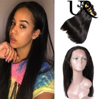 8A Brazilian Virgin Hair Straight with 360 Frontal Closure P...