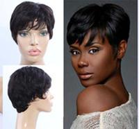 Perruques Bob Cheveux courts humains pour les femmes noires de dentelle perruques avant de dentelle perruque vierge Aucun cheveux brésilien dentelle court Perruques Avec Bangs