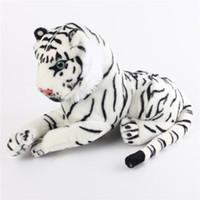 3 stück swhite tiger gefüllter tier plüsch weiche puppe spielzeug kinder baby kuschel kissen für baby room dekor