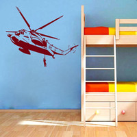 Removable Cool Wall Sticker Copter Helicopter Airplane Fight...