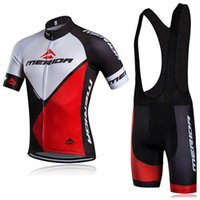 MERIDA ekibi Bisiklet Kısa Kollu jersey önlüğü şort setleri 2019 Yaz Hızlı Kuru yarış giyim ropa ciclismo bisiklet spor U42630
