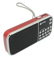 Hi-Rice SD-101 Digital FM/AM radio USB TF Mp3 Player Speaker Gift for Parents Red