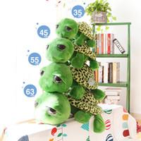 20 см 63 см армия зеленый большие глаза Черепаха плюшевые игрушки Черепаха кукла Черепаха дети Babys' друг как рождественский подарок на День Рождения