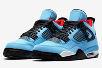 (With Shoes Box)2018 New Jumpman 4 IV Travis x Houston Unive...