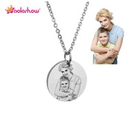 Personalized Custom Photo Engraved Necklace for Women Stainl...