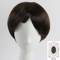 Natural Style Short Straight Hair Lady' s Synthetic Full...