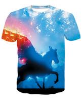stampa cavallo T-shirt 3D T-shirt da uomo Novità Animal Top T-shirt da uomo Manica corta estiva girocollo Tshirt dropshiping