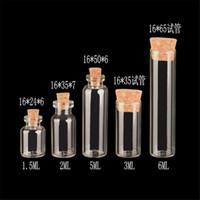 2 мл 3 мл 5 мл 6 мл Диаметр 16 мм Стеклянные пробирки Бутылки Маленькие бутылки с пробками Мини стеклянные флаконы для упаковки Подарочная бутылка 50шт