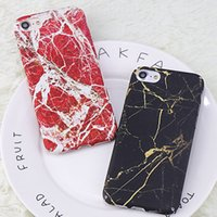 Stylish Black Gold  Red White Marble Hard PC Phone Back Cove...