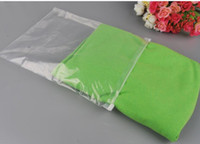 Specialdesigna Logo Rensa Plast Förvaringsväska Zipper Seal Travel Bags Zip Lock Ventil Slide Seal Packing Pouch för kosmetiska kläder