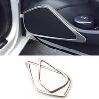 Marco Car Styling Interior Puerta de altavoz estéreo etiqueta interior Cuerno Cubierta Anillo tira de ajuste para Audi A3 14-16 8V