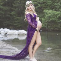 Maternity Gown Photography Clothes wedding Pregnancy Photo S...