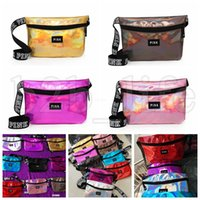pink letter laser waist bag pocket sports outdoor bag Travel...