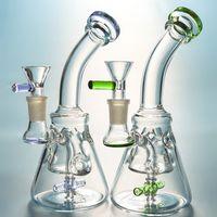 Fab Egg Glass Bongs Flow Motion Oil Rigs Spinning 2 пропеллер Проц Dab Rig Swiss-Hole Pyramid Design Water Pipe с чашей Xl226