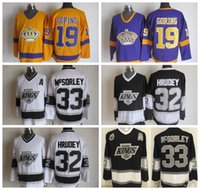 Vintage Los Angeles Kings Hockey Jersey 19 Butch Goring 33 Marty McSorley Патч 32 Kelly Hrudey Vintage Stitched Jerseys S-3XL
