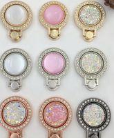 Portachiavi con fibbia in metallo con diamanti per strass brillantini per iPhone X 8 7 Plus 6 Prese ad anello con impugnatura in diamante per la nota 8 S8