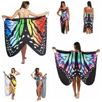 Irregular Butterfly Print Dress Women Backless Beach Party D...