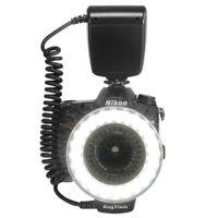 مجد 48PCS حزمة ماكرو فلاش LED حلقة مع 8 خاتم محول للكاميرا نيكون كانون بنتاكس أوليمبوس باناسونيك DSLR SLR