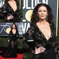 The 75th Golden Globe Awards Black Formal Evening Dresses Ce...
