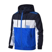 Autumn fall thin windbreaker jacket for men fashion long sle...