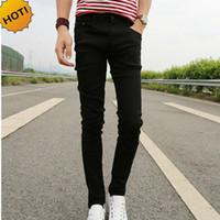 68132d2e0 Novo 2017 Primavera Verão Skinny jeans mens lazer estiramento pés calças  apertadas preto comprimento calças Barato Lápis Calças Dos Homens por  atacado