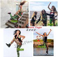 Femmes fitness et yoga vêtements legging pantalon 10pcs / lot lien pour la vente en gros