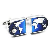 Camisa C-MAN azul mancuerna globo para hombre del manguito botones gemelos de alta calidad abotoaduras joyería